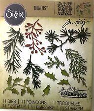TIM HOLTZ SIZZIX CUT EMBOSS & STENCIL THINLITS DIES ~HOLIDAY GREENS MINI 661597