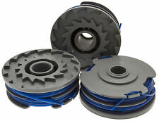 3 x Spool & Line Fits FLYMO REVOLUTION 2000 2300 2500 (Twin line Models Only)