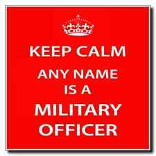 Military Officer Personalised Keep Calm Coaster