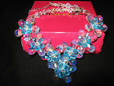 butler & wilson necklace only blue flowers new with box statement