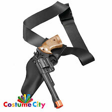 Adults Cowboy Police Gun & Holster Wild West Fancy Dress Costume Accessory