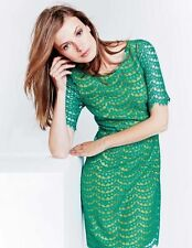 BODEN NWT Summer Lace Dress - Green/Yellow - UK 12 L - 2015