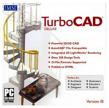 TurboCAD Deluxe 10 PC New in Box with Big Manual
