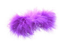 Eccentric & Vibrant Moulin Rouge Purple Feather & Metal Hair Barrette (Zx216)