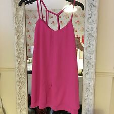 Topshop Hot Pink Strappy Dress (Petite)