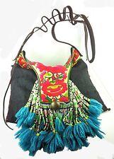 Designer Bag Boho Tote Clutch Embroidered Beads Kuchi Southern SandStar 1 Of