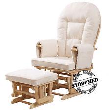 STODOMED Fernsehsessel TV-Sessel Schaukelstsuhl + Hocker + verstellbare Lehne