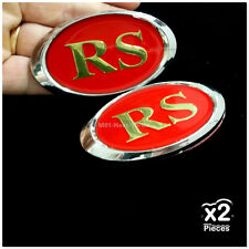 [2679 RD] 2x RS Gold RED 3D Chrome Car Badge Decal Emblem Trunk Side Logo Auto