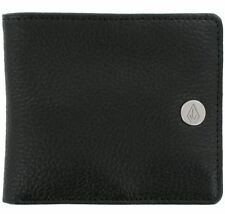 VOLCOM New Mens Leather Bifold Wallet Black BEND