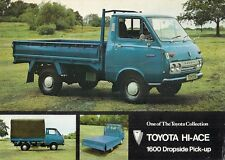 Toyota Hi-Ace 1600 Dropside Pick-Up 1973-74 UK Market Leaflet Sales Brochure