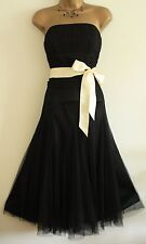 MONSOON MACIE ORIANE MESH SIZE 22 TULLE DRESS BLACK PARTY OCCASION EVENING