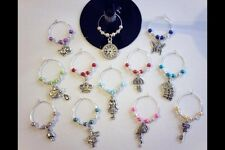 Wine Glass Charms 12 Mad Hatter's Tea Party Alice In Wonderland Table Decoration
