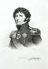 c1825 Bernadotte Jean Karl XIV. Schweden Lithographie-Porträt Delpech Mauzaisse