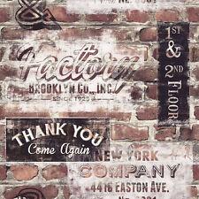 Rasch - 238600 - Terracotta Red Brick -  Portfolio New York Wall Retro Wallpaper
