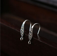1 pair 925 Sterling Silver Earrings DIY Ear Wire French Hook Connector A4205