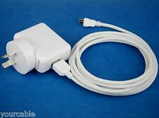 2A AC Adapter Charger+2M USB Cable WHITE 4 Samsung Galaxy Note 10.1 2014 Edition