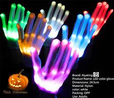 Mehrfarbig LED Blinkend Handschuhe Electro Leuchtend Weihnachten Tanz-Rave