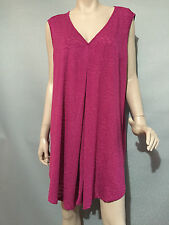 BNWT Womens Sz 22 Autograph Brand Raspberry Sleeveless Stretch Tunic Top RRP $50