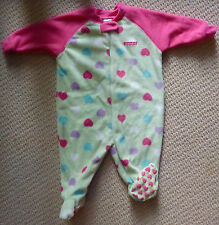 NWT Target Baby Girls Hearts Polar Fleece Winter Onesie Romper Coverall Size 0