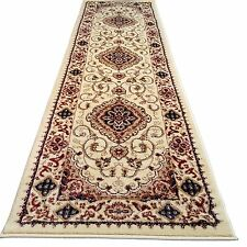 80x250cm PERSIAN HALL RUNNER BEIGE TRADITIONAL DESIGN HALLWAY HERITAGE RUGS 2222