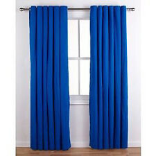 46x54 Royal Blue Ring Top Curtains Readymade Kids Girls Boys Bedroom Eyelet