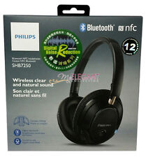 Philips Bluetooth Wireless NFC Over-Ear Headset Headphone Earphone SHB7250 Black