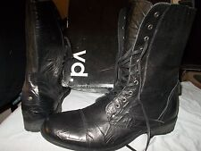 GENTS BLACK YD BOOTS SIZE 13 US LEATHER  LACE UP .NEW IN  ORIGINAL BOX