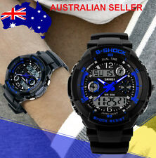 New Blue Men's boys running biking digital style g sport dual Time Shock watch