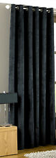 HEAVY WEIGHT 66 x 90 BLACK VELVET EYELET RING TOP LINED SINGLE  DOOR CURTAIN.