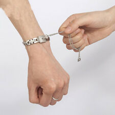 Couple Titanium Steel Bangle Bracelet and Key Pendant Necklace Sets Love Fashion
