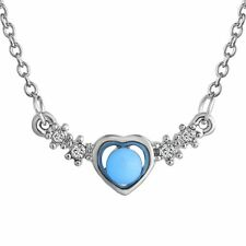 Chic  Fairy Glow in the dark Heart Choker Crystal Statement Bib Pendant Necklace