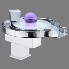 LED RGB Wasserhahn Waschbecken Einhandmischer Wasserfall Glas Küchenarmatur