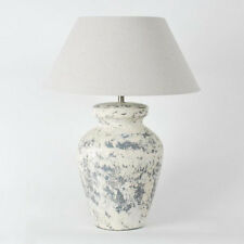 """Tischleuchte """"Beton"""" Tischlampe Schirm Lampe Beton/ Leinen 53,5 cm hoch, 40 cm"""