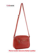 Pierre Cardin - Genuine Soft Italian Leather Long Strap Shoulder Cross Body Bag
