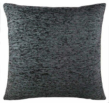 """Plain Chenille Charcoal Cushion Covers 18""""x 18"""" Double Sided Lovely Quality Item"""