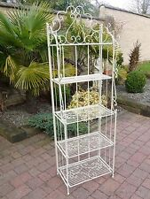 5 shelf Shabby Chic Folding Bookcase Shelves Display Unit vintage White
