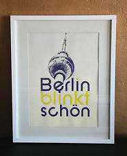 """Siebdruck """"Berlin blinkt schön"""" 35x50cm Poster Bild Plakat *limitierte Auflage!*"""