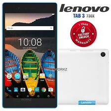 """New Unlocked LENOVO TB3-730X White 7"""" IPS LCD 4G LTE Android Mobile Phone Tablet"""