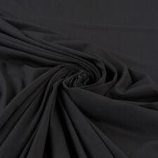 JERSEY STOFFE strick METERWARE ab 1 m NEU schwarz BAUMWOLLE ELASTHAN COTTON