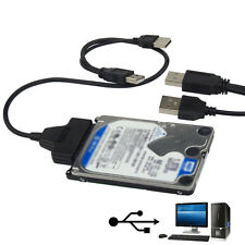 USB 2.0 to SATA 22Pin Cable für 2.5inch HDD Hard Drive Solid State Drive Disk ❉❉