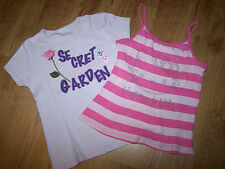 H&M Hello Kitty Mädchen Top + T-Shirt mit Print  Gr. ca. 134 / 140