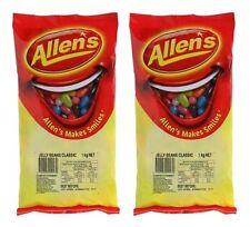 Bulk Lot 2 x Allens Jelly Beans 2kg Bag Candy Buffet Lollies Sweets Party Treats