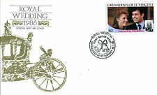 St VINCENT GRENADINES 18 JULY 1986 ROYAL WEDDING FIRST DAY COVER