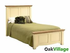 Dorchester Oak Cream Painted Single Bed 3ft / Bedroom / Solid Wood / Brand New
