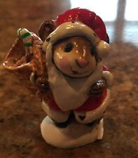 Wee Forest Folk WFF Christmas SANTA MOUSE Retired M-43 Figurine