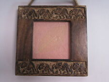 Wooden Elephant Ethnic African Design Photo Frame - 3.5 x 3.5 Photograph #22L289