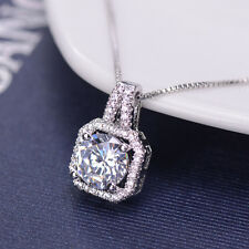 Fashion Women Crystal Charm Pendant Jewelry Chain Statement Choker Necklace Gift