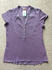 White Stuff Jodie Shirt In 'Thistle' (Lilac) Size 10 RRP £27.50