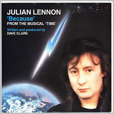 "JULIAN LENNON ""Because"" Musical ""Time"" by Dave Clark Single 7"" UK 1985"
