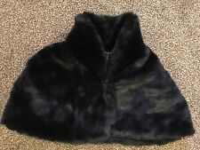 Debut By Debenhams, Black Faux Fur Bolero with High Mandarin Collar Style Neck